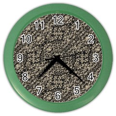 Animal Print Camo Pattern Color Wall Clocks by dflcprints