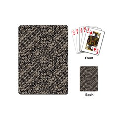 Animal Print Camo Pattern Playing Cards (mini)  by dflcprints