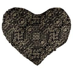 Animal Print Camo Pattern Large 19  Premium Heart Shape Cushions by dflcprints