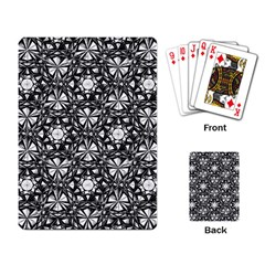 Star Crystal Black White Pattern Playing Card by Cveti
