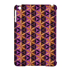 Flower Of Life Purple Gold Apple Ipad Mini Hardshell Case (compatible With Smart Cover) by Cveti