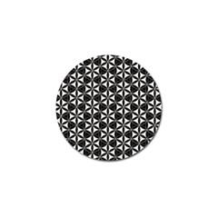 Flower Of Life Pattern Black White Golf Ball Marker (4 Pack) by Cveti