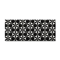 Flower Of Life Pattern Black White Cosmetic Storage Cases by Cveti