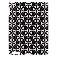 Flower Of Life Pattern Black White Apple Ipad 3/4 Hardshell Case by Cveti