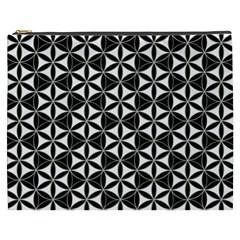 Flower Of Life Pattern Black White Cosmetic Bag (xxxl)  by Cveti