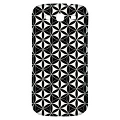 Flower Of Life Pattern Black White Samsung Galaxy S3 S Iii Classic Hardshell Back Case by Cveti