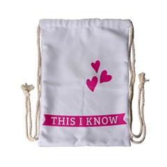 Jesus Loves Me [converted] Drawstring Bag (small) by clothcarts