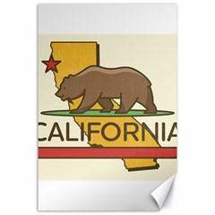 California Bear Canvas 24  X 36  by allthingseveryday