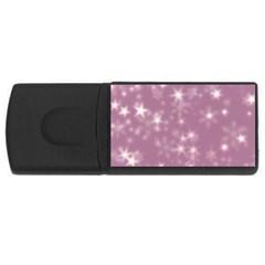 Blurry Stars Lilac Rectangular Usb Flash Drive by MoreColorsinLife