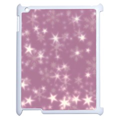Blurry Stars Lilac Apple Ipad 2 Case (white) by MoreColorsinLife