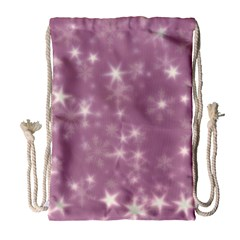 Blurry Stars Lilac Drawstring Bag (large) by MoreColorsinLife