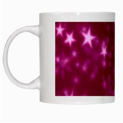 Blurry Stars Pink White Mugs by MoreColorsinLife