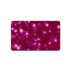 Blurry Stars Pink Magnet (name Card) by MoreColorsinLife