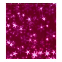 Blurry Stars Pink Shower Curtain 66  X 72  (large)  by MoreColorsinLife