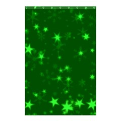 Blurry Stars Green Shower Curtain 48  X 72  (small)  by MoreColorsinLife