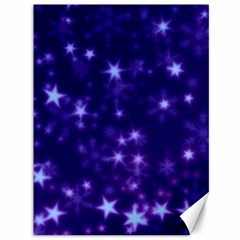 Blurry Stars Blue Canvas 36  X 48   by MoreColorsinLife