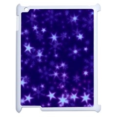 Blurry Stars Blue Apple Ipad 2 Case (white) by MoreColorsinLife