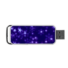 Blurry Stars Blue Portable Usb Flash (one Side) by MoreColorsinLife
