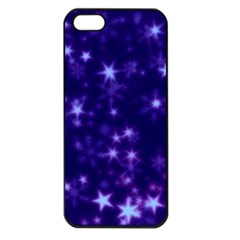 Blurry Stars Blue Apple Iphone 5 Seamless Case (black) by MoreColorsinLife