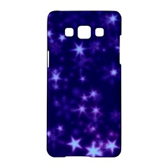 Blurry Stars Blue Samsung Galaxy A5 Hardshell Case  by MoreColorsinLife