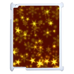 Blurry Stars Golden Apple Ipad 2 Case (white) by MoreColorsinLife