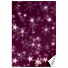 Blurry Stars Plum Canvas 20  X 30   by MoreColorsinLife