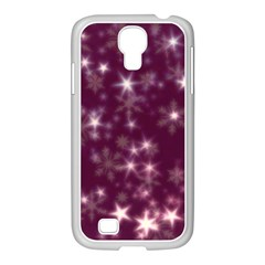 Blurry Stars Plum Samsung Galaxy S4 I9500/ I9505 Case (white) by MoreColorsinLife