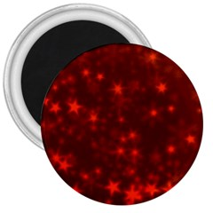 Blurry Stars Red 3  Magnets by MoreColorsinLife