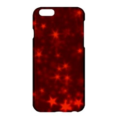 Blurry Stars Red Apple Iphone 6 Plus/6s Plus Hardshell Case by MoreColorsinLife