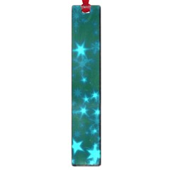 Blurry Stars Teal Large Book Marks by MoreColorsinLife