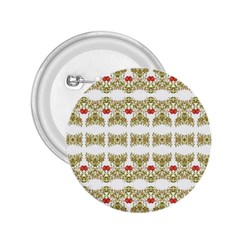 Striped Ornate Floral Print 2 25  Buttons by dflcprints