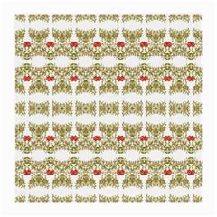 Striped Ornate Floral Print Medium Glasses Cloth by dflcprints