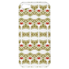 Striped Ornate Floral Print Apple Iphone 5 Hardshell Case by dflcprints