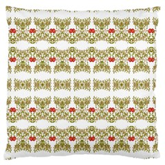 Striped Ornate Floral Print Standard Flano Cushion Case (two Sides) by dflcprints