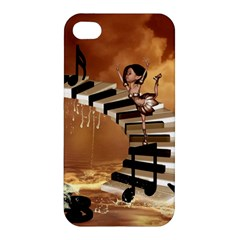 Cute Little Girl Dancing On A Piano Apple Iphone 4/4s Hardshell Case by FantasyWorld7