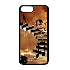 Cute Little Girl Dancing On A Piano Apple Iphone 8 Plus Seamless Case (black) by FantasyWorld7