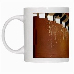 Cute Little Girl Dancing On A Piano White Mugs by FantasyWorld7