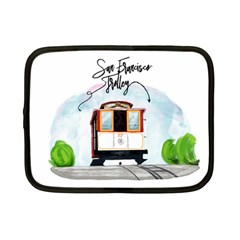 San Francisco Trolley California Bear Netbook Case (small)  by allthingseveryday