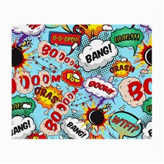 Comic Pattern Small Glasses Cloth by allthingseveryday