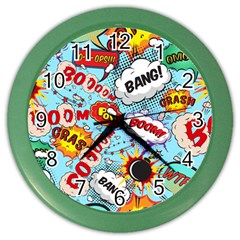 Comic Pattern Color Wall Clocks by allthingseveryday