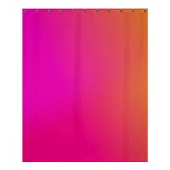 Pink Orange Yellow Ombre  Shower Curtain 60  X 72  (medium)  by SimplyColor
