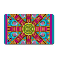 Sunny And Bohemian Sun Shines In Colors Magnet (rectangular) by pepitasart