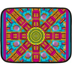 Sunny And Bohemian Sun Shines In Colors Fleece Blanket (mini) by pepitasart
