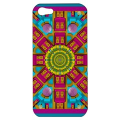 Sunny And Bohemian Sun Shines In Colors Apple Iphone 5 Hardshell Case by pepitasart