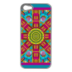 Sunny And Bohemian Sun Shines In Colors Apple Iphone 5 Case (silver) by pepitasart