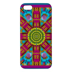 Sunny And Bohemian Sun Shines In Colors Apple Iphone 5 Premium Hardshell Case by pepitasart