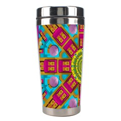 Sunny And Bohemian Sun Shines In Colors Stainless Steel Travel Tumblers by pepitasart
