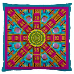 Sunny And Bohemian Sun Shines In Colors Standard Flano Cushion Case (two Sides) by pepitasart