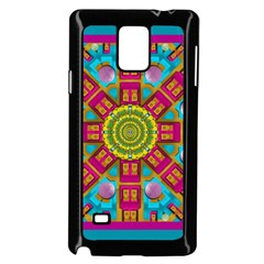 Sunny And Bohemian Sun Shines In Colors Samsung Galaxy Note 4 Case (black) by pepitasart