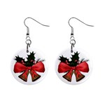 Christmas bells Mini Button Earrings